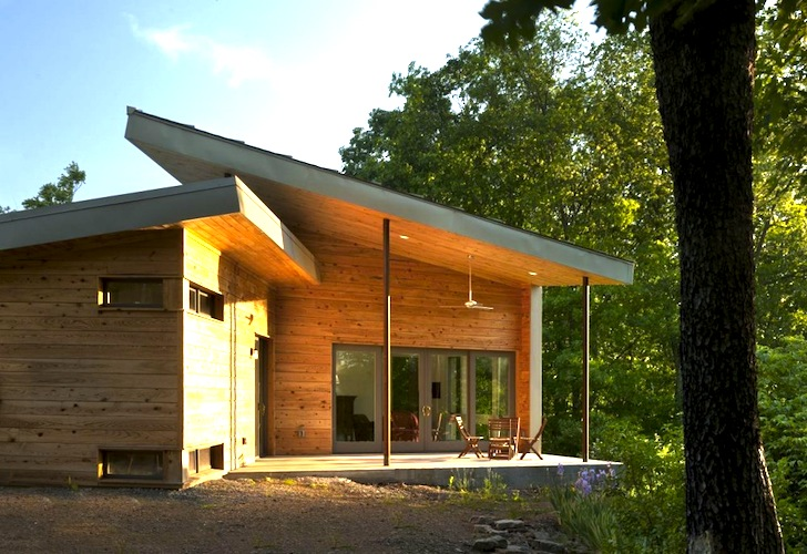 West Virginia Ridge House A Modern Dog Trot Home Made From Local