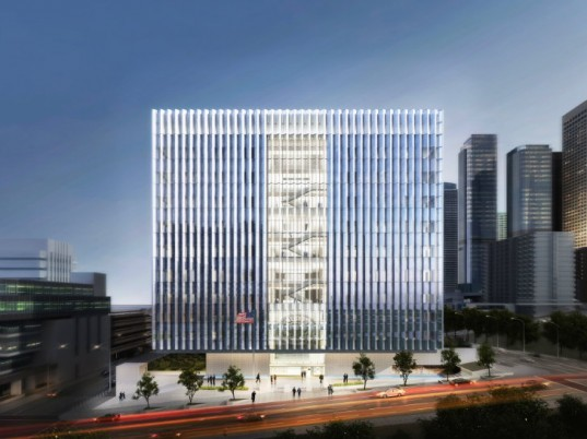 SOM, LA Courthouse, Skidmore Owings & Merrill, Los Angeles, LEED Platinum