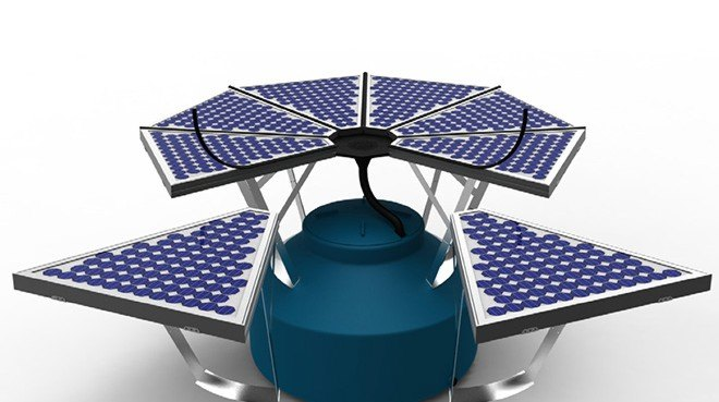 Photoflow Collector Harvests Rainwater And Solar Power For