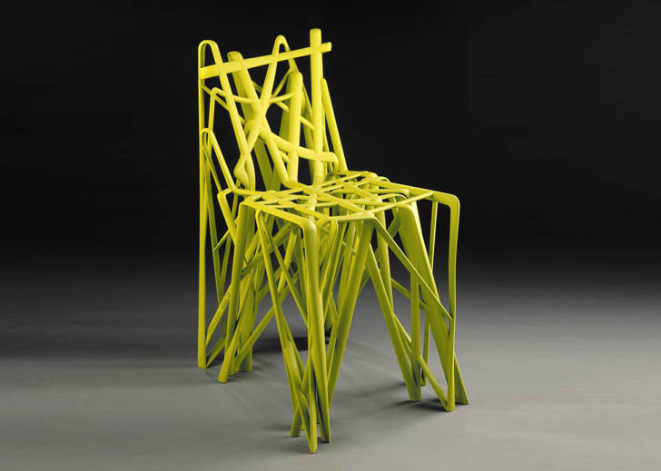 The world 39 s first 3d printed chair goes to amsterdam for Furniture 3d printing