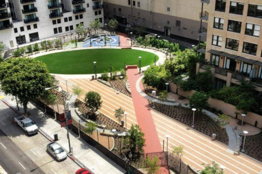 Spring Street Park, Lehrer Architects, public park, LA, 50 parks initiative, landscape architecture, open space, urban design