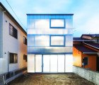 Translucent House in Tousuienn Glows After the Sun Sets Over Japan