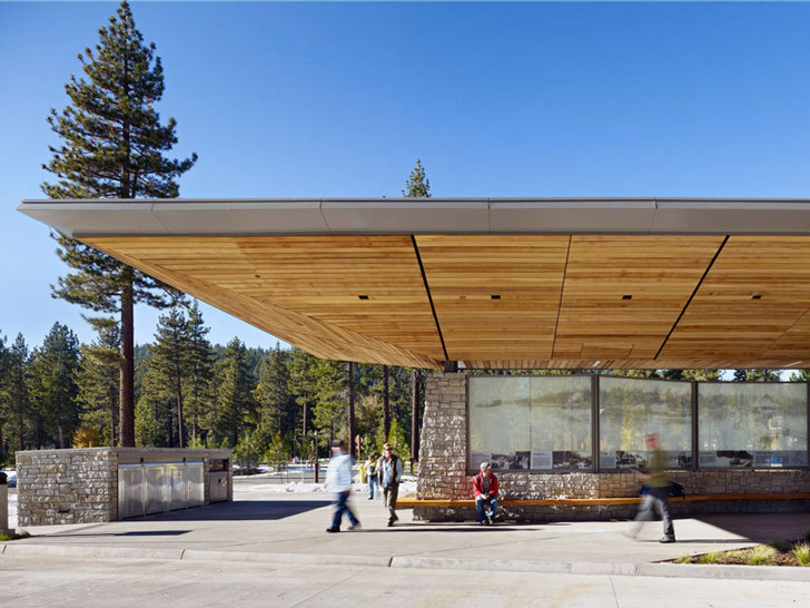Wrns Studio S New Tahoe City Transit Center Collects Snow