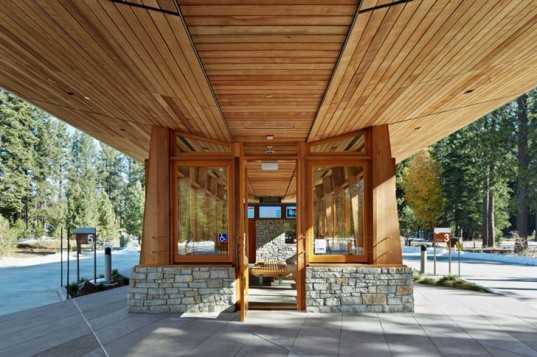 WRNS Studio, Tahoe City, California, Tahoe, Transit Center, Stone, Wood, Transportation, Buses, Sustainable, water reclamation, solar power, cistern, natural ventilation