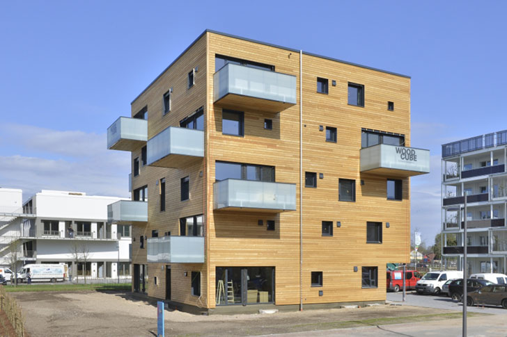 Woodcube Carbon Neutral Five Story Wooden Apartment