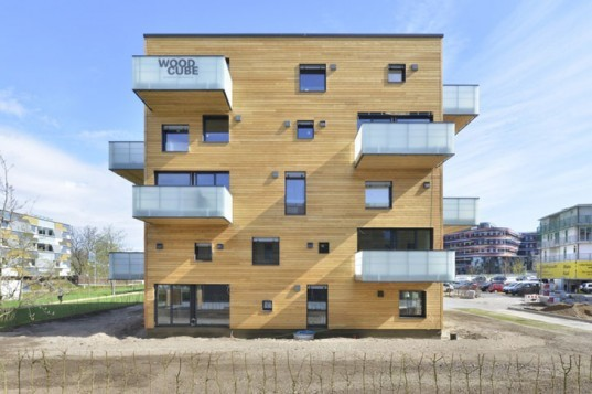 Woodcube, Hamburg, carbon-neutral building, green building, Wilhelmsburg