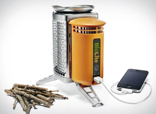 green gadgets, green camping, outdoor gadgets, green technology, sustainable technology, sustainable design, green design, renewable energy, green camping gear, clean tech, biolite, energy-generating campstove