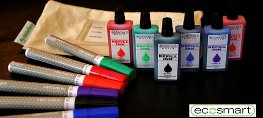 ecosmart, ecosmart markers, refillable markers, eco markers