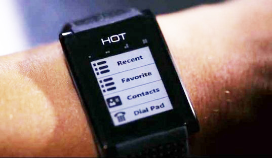 The HOT Smart Watch Transforms Your Hand into a Mobile Phone Receiver