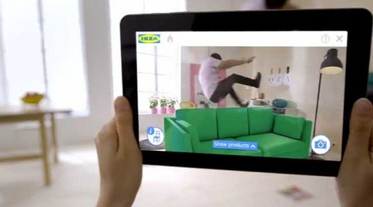ikea 39 s augmented reality 2014 catalog lets you preview products in your apartment inhabitat. Black Bedroom Furniture Sets. Home Design Ideas