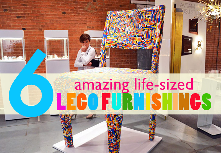 Architecture & Amazing Life-sized Lego Furnishings That You Can Really Live With ...