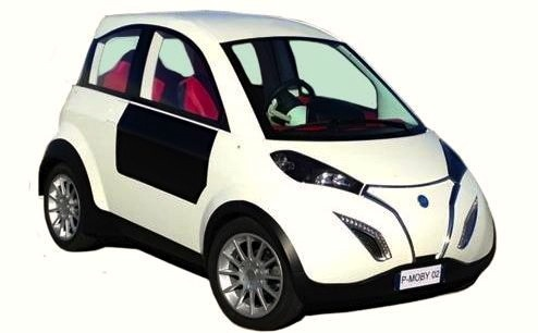 automotive, electric cars, green transportation, solar power, p-mob electric car, p-mob solar powered car, solar powered car, green car