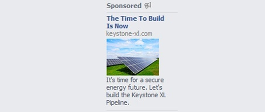 TransCanada, Keystone XL Pipeline, Philip Radford, Greenpeace, Facebook ads, solar panels, tar sands, oil pipeline, greenhouse gases, dirty energy, oil sands