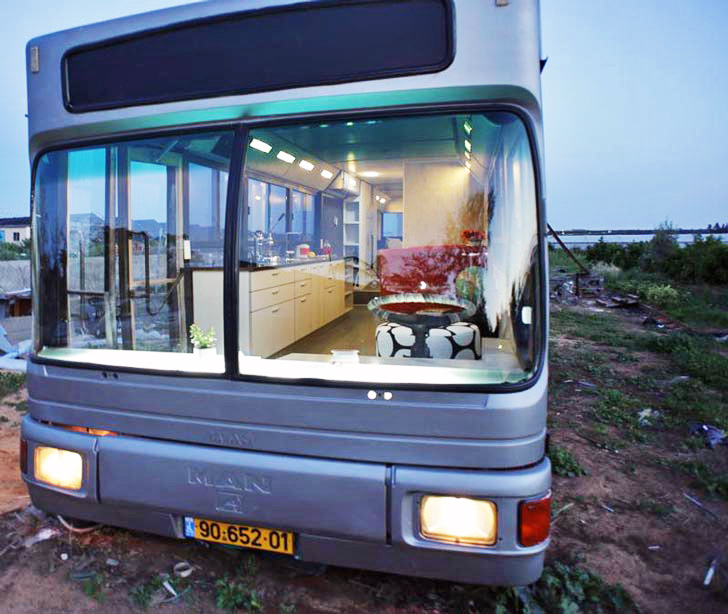 Old Public Bus Salvaged to Create Affordable Housing in Israel