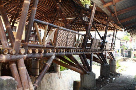 Black Bamboo Community Center, Indonesia, Andrea Fitrianto, Jasri Mulya, renewable bamboo, Architecture, Botanical, Sustainable Building, social design, Resilient Design, humanitarian design, Green Resources, Green Materials,