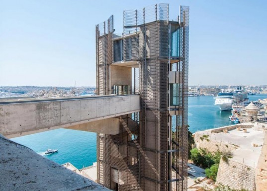 Valletta, Malta, Barrakka Lift, Fortified Walls, Historic Harbour, Ferry Terminal, Architecture Project, Grand Harbour Regeneration Corporation, Cage Lifts, Restoration