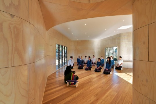 Bentleigh College Meditation Centre, DWP Suters, suters architects, meditation centre, green architecture, sustainable architecture,