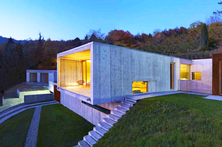 Raw and elegant casa y is an energy efficient home near turin inhabitat green design - Casa design torino ...
