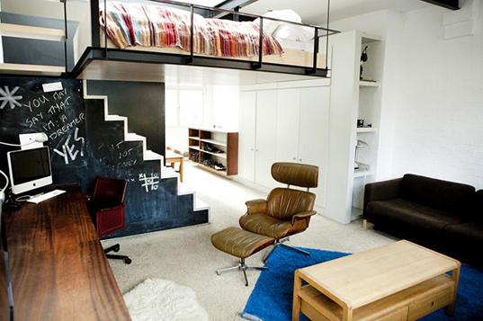 Beds For Small Apartments awesome floating bedroom maximizes space in tiny london apartment