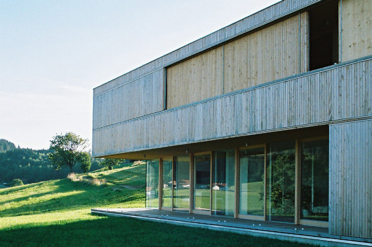 Low Energy House S Boasts Sliding Shutters To Block Sun And Wind In Bavaria