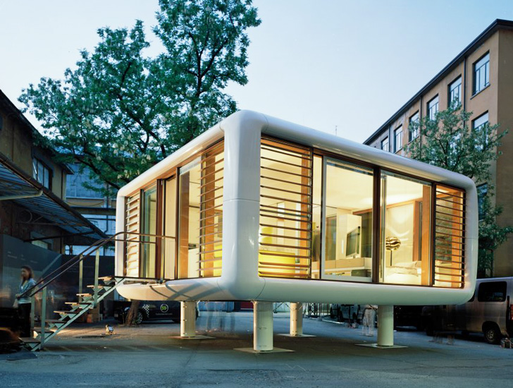 Tiny Space-Age LoftCube Prefab Can Pop up Just About Anywhere