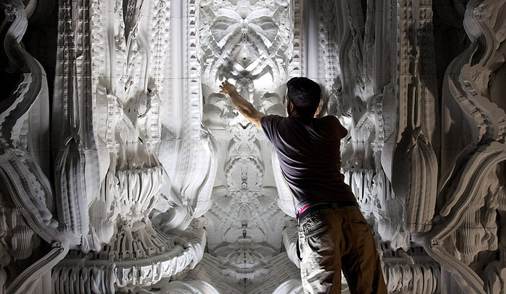 The Worlds First 3D Printed Room Is A Mind Boggling Baroque