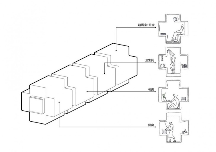 Tetris Like Micro House Can Be Stacked To Form Expanded Housing Suites