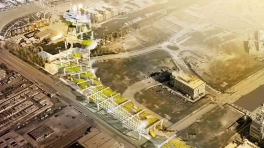 Seismic Harvest, earthquake simulators, 280 Freeway Competition, Highway 280 San Francisco, urban farming, community gardens, vertical farming, green infrastructure, green redevelopment, San Francisco, architecture competition, wind energy, seismic energy design, solar energy