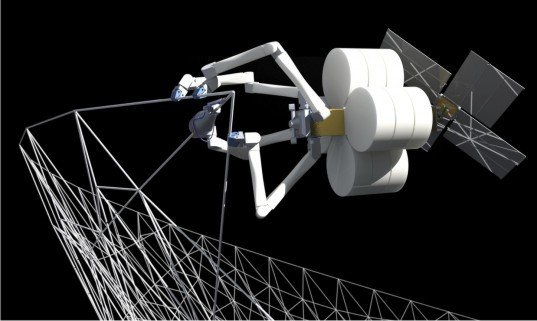 NASA, Tethers Unlimited, TUI, 3d printing, 3d printers, spider robots, spiders, robots, starships, spacecraft, orbit, in-orbit assembly