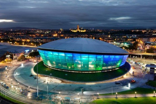 SSE Hydro, music venue, Foster + Partners, architecture, design, energy-efficiency, Scotland, natural ventilation, Rod Stewart