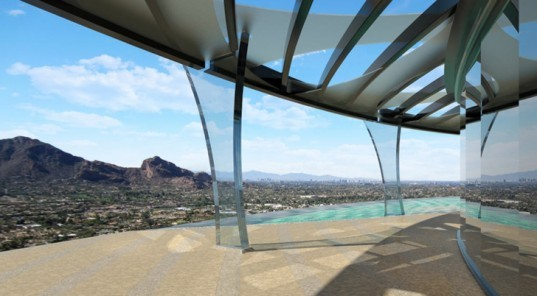 green design, eco design, sustainable design, Mummy Mountain, Mummy house, Manta Ray House, Nick Tsontakis, mountain top house Arizona
