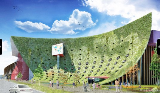 Arkhenspaces Taichung Cultural Center, Arkhenspaces, Taichung Cultural Center, Taichung Cultural Center International Competition, architectural competition, sustainable technologies, recycled containers, solar power, wind power, sustainable building, Taichung Center, Taiwan architecture, flexible architecture
