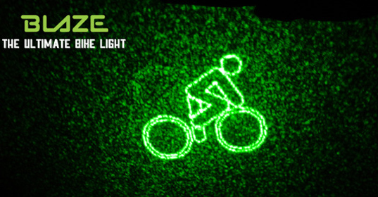 BLAZE, bike light, bike laser light, bicycle safety, UK, bike safety, Emily Brooke, bicycle accidents, bicycle fatalities, innovation