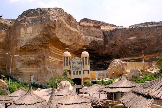 cave churches, zabbaleen, garbage city, mokattam hills, coptic christian church, coptic christians, monastery of saint simon, virgin mary and st simon cathedral, cathedral, coptic monastery, garbage collector