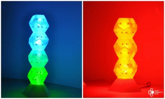dodecado, light sculptures, LEDs, kickstarted campaign, recycled materials, sustainable design, green design, green energy