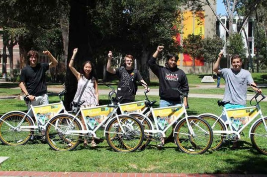 freebike project, kim sanderhoff, johan bender, usc, student, bike lease, bike share, bikes for the world