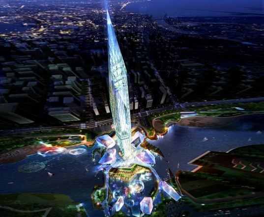 Infinity Tower, GDS Architects, tower infinity, south korea, invisible tower, anti-tower, skyscraper, eco tower