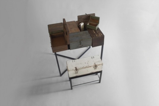 restored furniture, green design, sustainable design, manoteca, box sir, upcycled materials