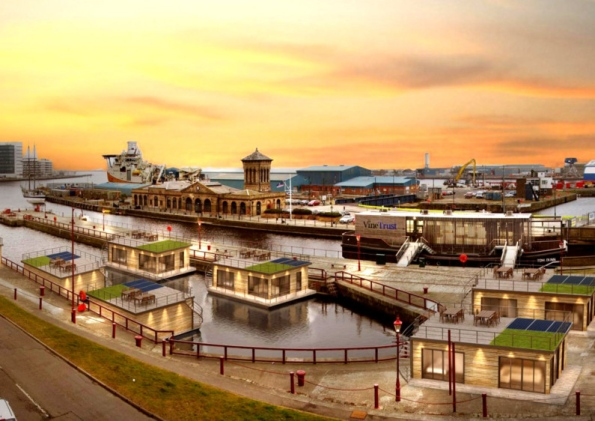 Affordable Solar-Powered Floating Village Planned for Edinburgh