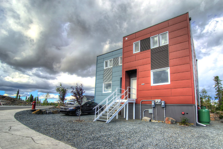 Prefab Moyle Duplex in Yellowknife Comprises a Set of Super Energy Efficient Modern Homes