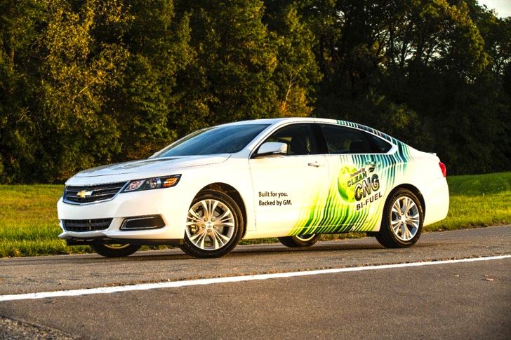 General Motors' 2015 Chevrolet Bi-Fuel Impala to Run on Both Gasoline and Natural Gas