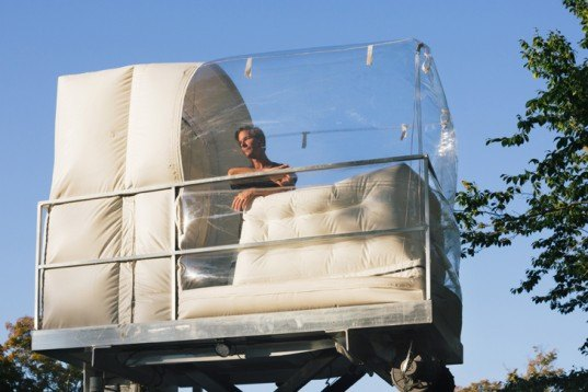 Alex Schweder, Alex Schweder bubble house, temporary installations, inflatable houses, tiny rooms, tiny homes, inflatable houses, inflatable plastic art, art, Philip Johnson Glass House, glass house, Denver art