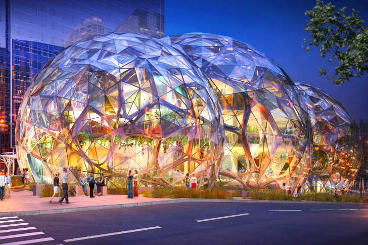 Amazons Biodome Greenhouses Receive Green Light From