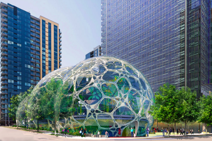 Amazon S Biodome Greenhouses Receive Green Light From