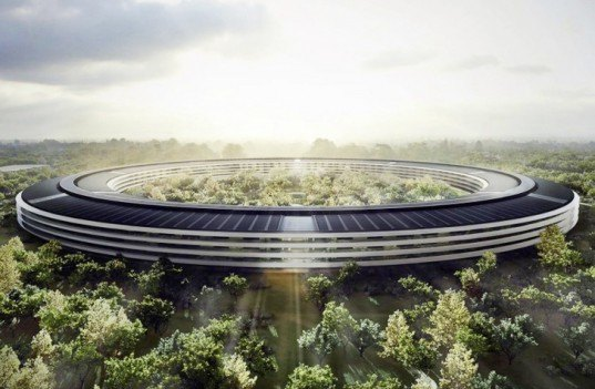 Apple Campus 2, Apple HQ Cupertino, Apple Spaceship Headquarters, Apple architecture, sustainable buildings, energy-efficient buildings, green masterplan Apple, Steve Jobs