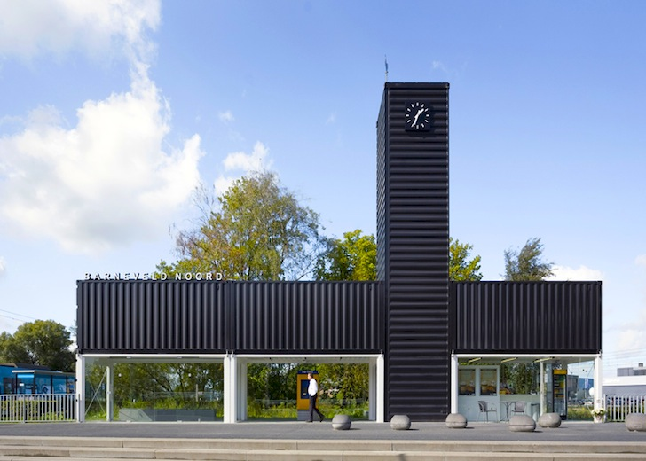 Modern Architecture Netherlands nl architects turn shipping containers into temporary industrial
