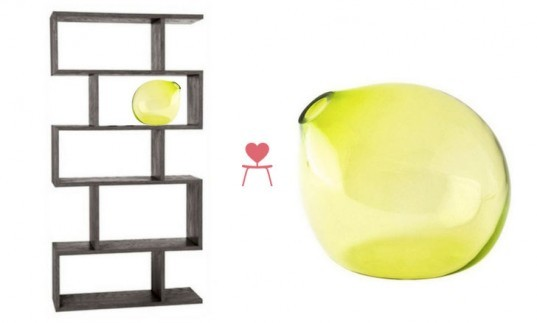 Inhabitat's Clean Green Collection For Chairish, Chartreuse Vase, Wooden Bookshelf