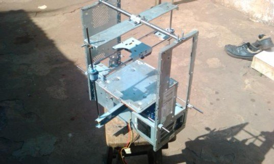 3d printer, 3d printing, Kodjo Afate Gnikou, Togo, $100 3d printer, e-cycling, recycling, recycled 3d printer, e-waste, africa, computers