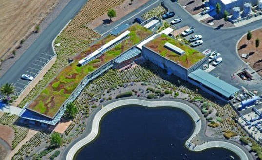 Ellis Creek Water Recycling Facility, Symbios Petaluma California, California green-roofed buildings, green roofs, green buildings, sustainable architecture, vegetation