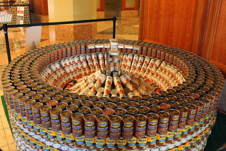 Canstruction Sculptures Made From Nearly 30 000 Cans Of